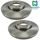 1ABFS00242-2005-07 Ford Focus Brake Rotor Front Pair