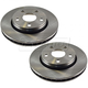 1ABFS00299-2007-15 Jeep Wrangler Brake Rotor Front Pair