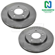 1ABFS00216-2004-08 Chrysler Pacifica Brake Rotor Front Pair
