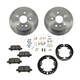 1ABCK00011-Toyota Avalon Camry Solara Brake Pad & Rotor Kit with Parking Brake Shoes & Hardware Rear