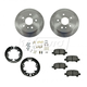 1ABCK00010-Toyota Avalon Camry Solara Brake Pad & Rotor Kit with Parking Brake Shoes & Hardware Rear