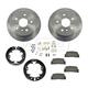 1ABCK00013-Brake Pad & Rotor Kit with Parking Brake Shoes & Hardware Rear