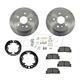 1ABCK00012-Brake Pad & Rotor Kit with Parking Brake Shoes & Hardware Rear