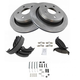1ABCK00015-Brake Pad & Rotor Kit with Parking Brake Shoes & Hardware Rear
