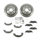 1ABCK00014-Brake Pad & Rotor Kit with Parking Brake Shoes & Hardware Rear