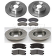 1ABCK00002-Saturn Brake Pad & Rotor Kit Front Rear
