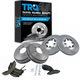 1ABCK00001-Brake Shoes Drums & Pads Rotors COMPLETE KIT