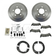 1ABCK00008-1993-94 Jeep Grand Cherokee Brake Pad & Rotor Kit with Parking Brake Shoes & Hardware Rear