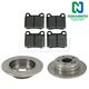 1ABFS00362-Mercedes Benz C220 C280 Brake Kit Rear  Nakamoto MD335  202 423 00 12