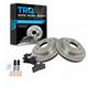1ABFS00002-Brake Pad & Rotor Kit