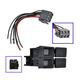 1AESK00002-1987-93 Ford Mustang Headlight Switch with Plug & Wiring Pigtail for Models (without Fog Lights)