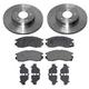 1ABFS00069-Brake Pad & Rotor Kit