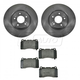 1ABFS00879-2003-06 Mitsubishi Lancer Evolution Brake Pad & Rotor Kit Front