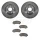 1ABFS00835-2009-12 Nissan Sentra Brake Pad & Rotor Kit Front