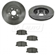 1ABFS00942-1990-91 Lexus ES250 Toyota Camry Brake Pad & Rotor Kit Front