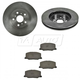 1ABFS00943-1990-91 Lexus ES250 Toyota Camry Brake Pad & Rotor Kit Front