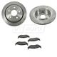 1ABFS00979-Brake Pad & Rotor Kit Rear