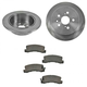 1ABFS00916-Brake Pad & Rotor Kit Rear
