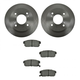 1ABFS00754-Infiniti G20 Nissan Sentra Brake Pad & Rotor Kit Rear