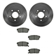 1ABFS00760-Brake Pad & Rotor Kit Rear