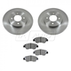 1ABFS00796-Honda Civic Hybrid FIT Brake Pad & Rotor Kit Front
