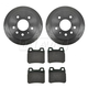 1ABFS00727-Saab 900 Brake Pad & Rotor Kit Rear