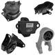 1AEEK00610-2005-06 Honda Odyssey Engine & Transmission Mount Kit