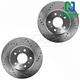 1APBR00011-Brake Rotor Pair  Nakamoto 55126-DSZ