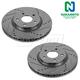 1APBR00010-Brake Rotor Front Pair  Nakamoto 55093-DSZ