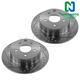 1APBR00040-Nissan Brake Rotor Rear Pair