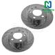 1APBR00046-Brake Rotor Pair  Nakamoto 34144-DSZ