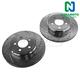 1APBR00050-Brake Rotor Rear Pair  Nakamoto 53024-DSZ