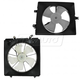 1ARFK00003-Acura TL Honda Accord Radiator & A/C Condenser Cooling Fan Assembly Pair