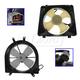 1ARFK00005-Honda Civic Radiator & A/C Condenser Cooling Fan Assembly