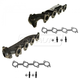 1AEEK00645-2003-11 Exhaust Manifold with Gasket & Hardware Kit Pair