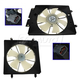 1ARFK00011-Honda CR-V Element Radiator & A/C Condenser Cooling Fan Assembly Pair
