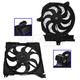 1ARFK00016-2001-02 Hyundai Santa Fe Radiator & A/C Condenser Cooling Fan Assembly Pair
