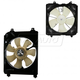 1ARFK00026-2006-11 Honda Civic Radiator & A/C Condenser Cooling Fan Assembly Pair