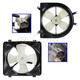 1ARFK00021-Acura EL Honda Civic Radiator & A/C Condenser Cooling Fan Assembly Pair