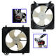 1ARFK00024-1994-97 Honda Accord Radiator & A/C Condenser Cooling Fan Assembly Pair