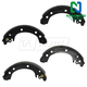 1ABPS00827-2003-08 Toyota Corolla Brake Shoes Rear