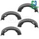 1ABPS00838-Parking Brake Shoe Set  Nakamoto S791
