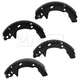 1ABPS00845-Ford Taurus Mercury Sable Brake Shoes Rear