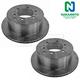 1ABFS01909-Brake Rotor Rear Pair  Nakamoto 31154