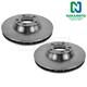 1ABFS01919-Brake Rotor Pair  Nakamoto 34265  34264