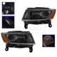 1ALHP01177-2014-16 Jeep Grand Cherokee Headlight Pair