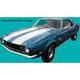 1AXDC00046-1967-68 Chevy Camaro Paint Mask Stencil Kit