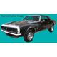 1AXDC00049-1967-68 Chevy Camaro Stripe Kit