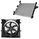 1ARFK00027-Jeep Grand Cherokee Radiator  Shroud  & Fan Kit