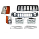 1ABGK00017-1997-98 Jeep Grand Cherokee Grille  Header Panel & Light Set